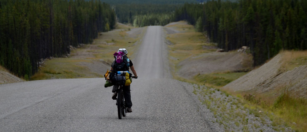 bicycle-on-the-cassiar-highway